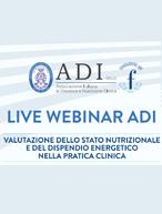 """October 15, 2020: Live webinar ADI """"Valutazione dello stato nutrizionale e del dispendio energetico nella pratica clinica"""""""