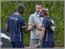 Athletic tests with K4 b² for the Italian National Football Team
