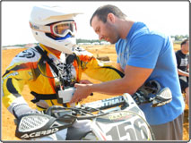US motocross athletes tested in the field with mobile metabolic system K4 b²